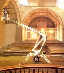 Anhänger-Arbeitsbühne 10,5 m  Dinolift mieten leihen