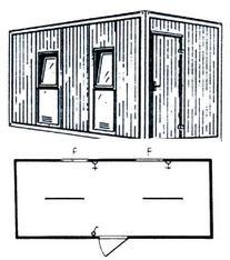 b rocontainer schlafcontainer wohncontainer mieten baumaschinen mieten und bauger te mieten. Black Bedroom Furniture Sets. Home Design Ideas