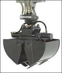 Greifer für 2,5 - 3,5 to. Minibagger mieten leihen