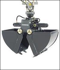 Greifer für 14,0 - 16,0 to. Kettenbagger / Mobilbagger mieten leihen