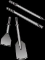 Spaten für Presslufthämmer mieten leihen