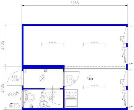 doppelcontainer mit wc und kleink che 20 39 objekt nr 116452 baumaschinen mieten und. Black Bedroom Furniture Sets. Home Design Ideas
