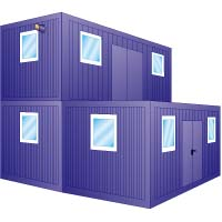 b ro wohncontainer objekt nr 111984 baumaschinen. Black Bedroom Furniture Sets. Home Design Ideas