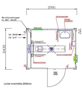 barrierefreier wc container behindertengerechter wc container 10 39 objekt nr 179019 geith. Black Bedroom Furniture Sets. Home Design Ideas