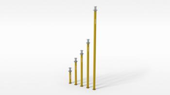 Alu - Deckenstützen MP 250, ca. 1,45 bis 2,50 m Peri Multiprop mieten leihen