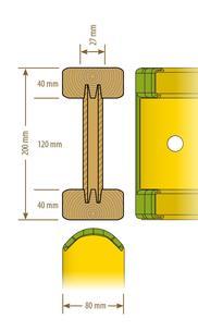 Holzträger H20 3,60 mieten leihen