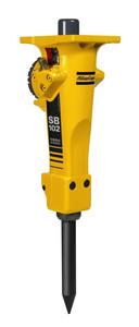 Hydraulikhammer 90 kg inkl. 1 Spitzmeisel für Kompakt-Bagger/Mini-Bagger 1,6 - 2,7 to. mieten leihen