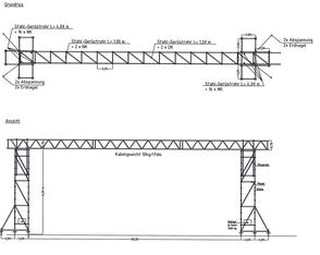 Kabelbrücke bis 28m Spannweite / Durchfahrtsbreite mieten leihen