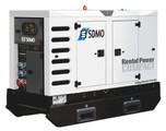 Stromerzeuger/Stromaggregat / Generator 60 kVA auf Straßenfahrwerk, schallgedämpft mieten leihen