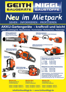 AKKU - Laubblasgerät /-Blasgerät (Laubsauger): Benziner-Leistung trifft auf Akku-Komfort mieten leihen