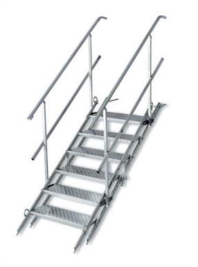 Bautreppe, klappbar mit  6 Stufen mieten leihen