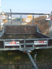 Anhänger 0,75 to Rampenanhänger 1,8 x 2 m mieten leihen