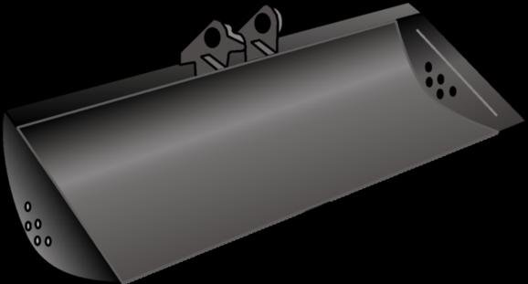 Grabenräumlöffel starr für Kompaktbagger 1,5 t und 3,0 t mieten leihen