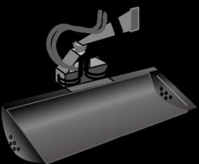 Grabenräumlöffel hydraulisch schwenkbar für Kompaktbagger 3,5 to mieten leihen