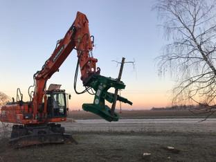 Astschere - Baumschere MS21 für Bagger , Fällgreifer mieten leihen