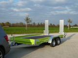 Autotransport Anhänger Tieflader 3,5 t Gesamtgewicht  mieten leihen