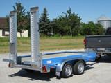 Maschinentransport Anhänger Tieflader 3,5 t Gesamtgewicht  mieten leihen