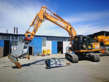 Kettenbagger 25 Tonnen mieten leihen
