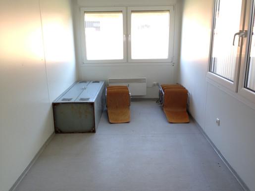 Büro-Container  6 m *** Stirn + Längs-Fenster mieten leihen